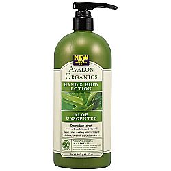 Avalon Organics Aloe Unscented Hand and Body Lotion