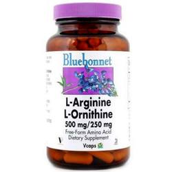 Bluebonnet Nutrition L-Arginine/L-Ornithine 500 mg/250 mg