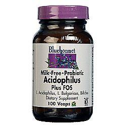 Bluebonnet Nutrition Milk-Free Probiotic Acidophilus Plus FOS