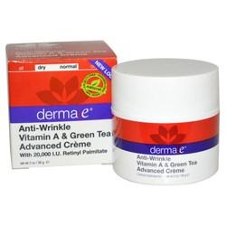 Derma E Anti-Wrinkle Vitamin A and Green Tea Advanced Creme