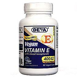 Deva Vegan Natural Source Vitamin E with Mixed Tocopherols