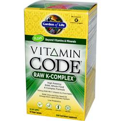 Garden of Life Vitamin Code Raw K Complex