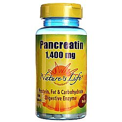 Nature's Life Pancreatin 1,400 mg