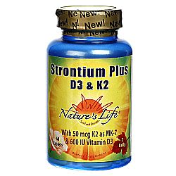 Nature's Life Strontium Plus D3 and K2
