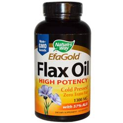 Nature's Way EFAGold Flax Oil High Potency 1300 mg
