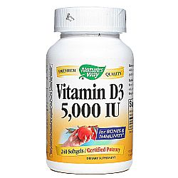Nature's Way Vitamin D3 5,000 IU
