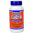 Now Foods CoQ10 50 mg Softgels with Vitamin E and Selenium Softgels