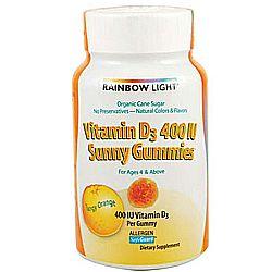 Rainbow Light Vitamin D 400 IU Sunny Gummies
