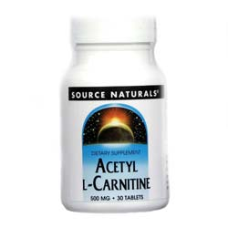 Source Naturals Acetyl L-Carnitine 500 mg