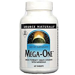 Source Naturals Mega-One Multiple, No Iron