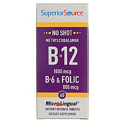 Superior Source No Shot B-12 / B-6 and Folic Acid
