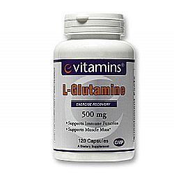 eVitamins L-Glutamine 500 mg