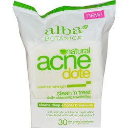 Alba Botanica Acne Dote Clean 'n Treat Daily Towelettes