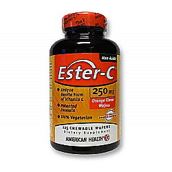 American Health Ester C 250 mg - Orange Flavor Wafers