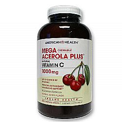 American Health Mega Acerola Plus  w Vitamins C 1000 mg