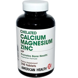 American Health Chelated Calcium Magnesium Zinc