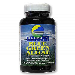 American Health Klamath Shores Blue Green Algae Caps 500 mg