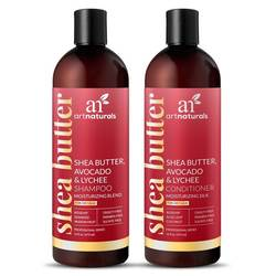 Art Naturals Shea Butter- Avocado  Lyche Shampoo  Conditioner Duo