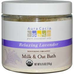 Aura Cacia Organic Milk  Oat Bath Mix