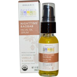 Aura Cacia Nighttime Baobab Facial Oil Serum