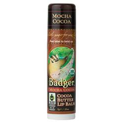 Badger Cocoa Butter Lip Balm- Mocha Cocoa