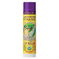 Badger Lip Balm - Lavender Orange