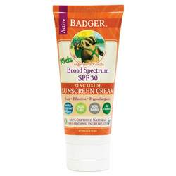 Badger Active Kids- Zinc Oxide Sunscreen Cream- SPF 30