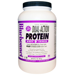Bluebonnet Nutrition 100- Natural Dual Action Protein Powder