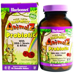 Bluebonnet Nutrition Super Earth Rainforest Animalz Probiotic