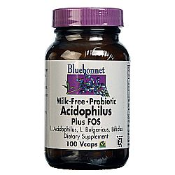 Bluebonnet Nutrition Milk-Free Probiotic Acidophilus Plus FOS