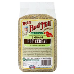 Bobs Red Mill Organic 6 Grain Hot Cereal with Flaxseed (4 Pack)