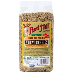 Bobs Red Mill Organic Hard Red Spring Wheat Berries (4 Pack)