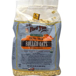 Bobs Red Mill Organic Extra Thick Rolled Oats (4 Pack)