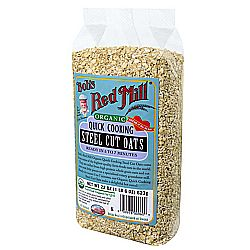 Bobs Red Mill Organic Quick Cooking Steel Cut Oats (4 Pack)