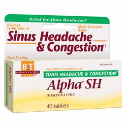 Boericke and Tafel Alpha SH Homeopathic Sinus Headache  Congestion