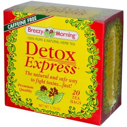 breezy morning teas detox express tea 20 tea bags. Black Bedroom Furniture Sets. Home Design Ideas