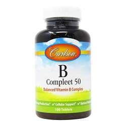 Carlson Labs B Compleet 50 Balanced Vitamin B Complex