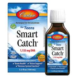 Carlson Labs Smart Catch Norwegian Fish Oil Concentrate for Teens