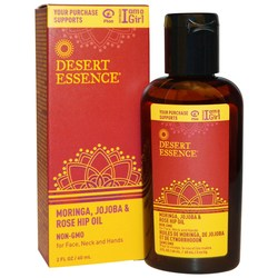Desert Essence Moringa Jojoba  Rose Hip Oil