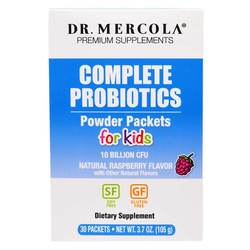 Dr. Mercola Complete Probiotics Powder Packets for Kids (10 Billion CFU)
