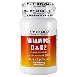 Dr. Mercola Vitamins D and K2