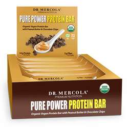 Dr. Mercola Pure Power Peanut Butter Protein Bars (Box)