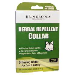 Dr. Mercola Herbal Repellent Collar For Cats  Kittens