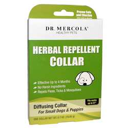 Dr. Mercola Herbal Repellent Collar For Small Dogs  Puppies