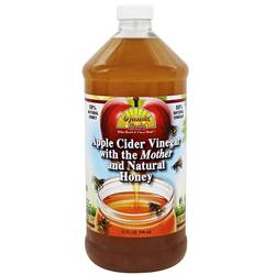 Dynamic Health Laboratories Organic Apple Cider Vinegar with the Mother and Natural Honey