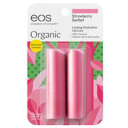 EOS Organic Stick Lip Balm Strawberry Sorbet
