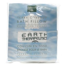 Earth Therapeutics Terry Covered Bath Pillow