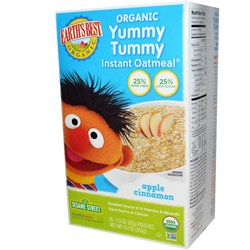 Earth's Best Sesame Street Yummy Tummy Instant Oatmeal
