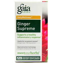 Gaia Herbs DailyWellness Ginger Supreme