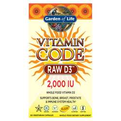 Garden of Life Vitamin Code Raw D3 2-000 IU